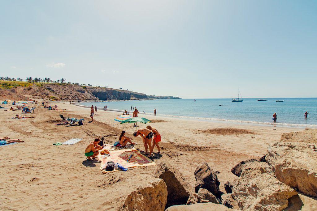 People on a sunny beach